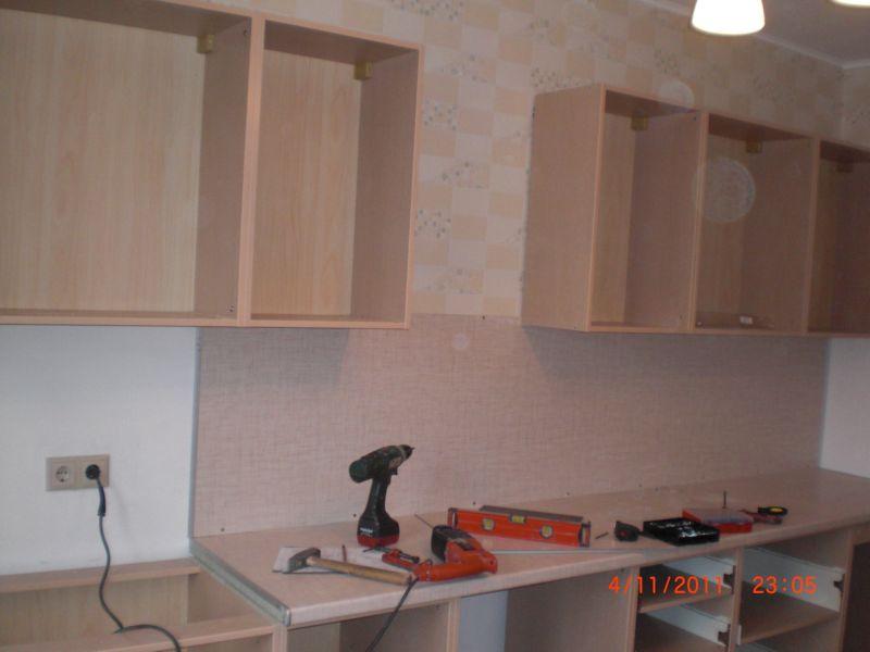 Сборка кухни установка навески
